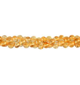 Barnsteen (geel) kralen rond 6 mm (streng van 40 cm)