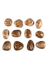 Aragoniet (bruin) steen getrommeld 2 - 5 gram