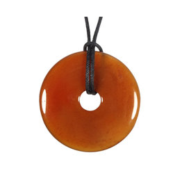 Carneool hanger donut 4 cm