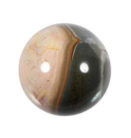 Jaspis (polychroom) edelsteen bol 77 mm | 595 gram