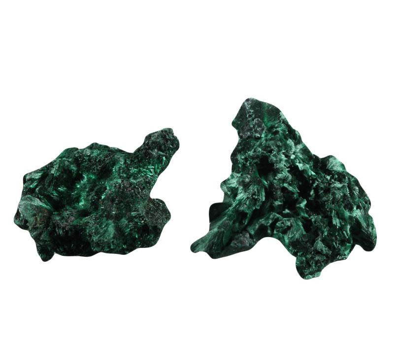 Malachiet (fluweel) ruw 100 - 150 gram