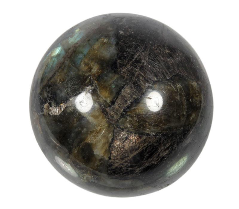 Labradoriet edelsteen bol 70 - 75 mm