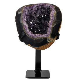 Amethist cluster 15 x 14,5 x 6 cm / 1562 gram   met standaard