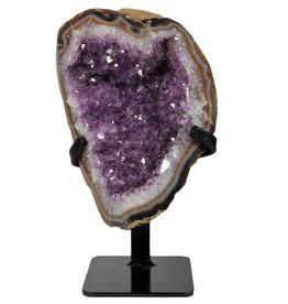 Amethist cluster 20 x 14 x 7 cm / 1600 gram   met standaard