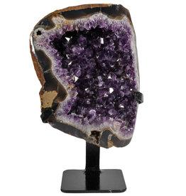 Amethist cluster 22 x 16,5 x 6 cm / 3080 gram   met standaard