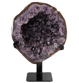 Amethist cluster 24 x 21 x 7 cm / 3650 gram | met standaard