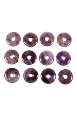 Amethist hanger donut 3 cm