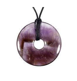 Amethist hanger donut 4 cm