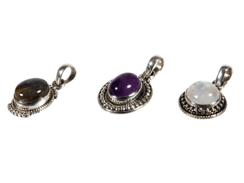 Set van 3 zilveren hangers (1)