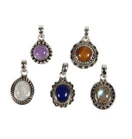 Set van 5 zilveren hangers (1)