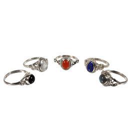 Set van 5 zilveren ringen (1)