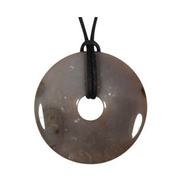 Vuursteen hanger donut 4 cm