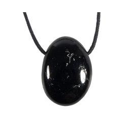 Toermalijn (zwart) hanger doorboord