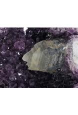 Amethist geode met calciet kristal 22 x 15 x 12 cm | 3900 gram