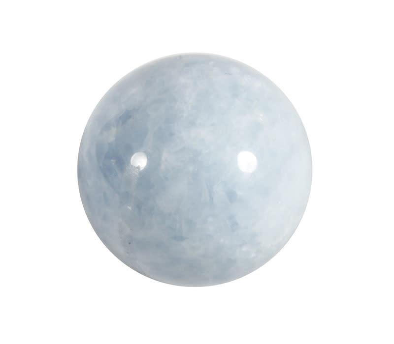 Calciet (blauw) edelsteen bol 69 mm | 500 gram