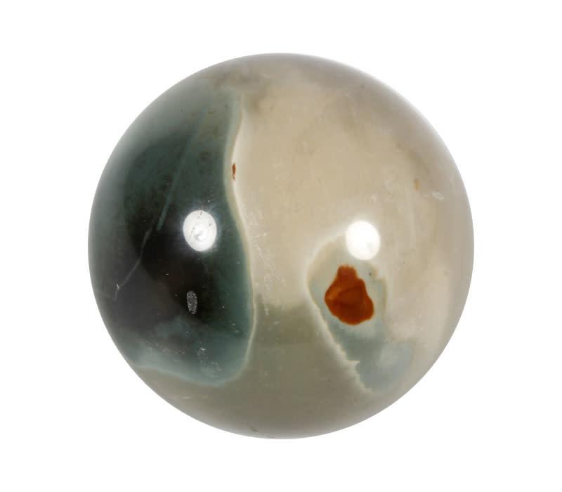 Jaspis (polychroom) edelsteen bol 64 mm | 362 gram