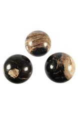 Versteend hout edelsteen bol 55 - 60 mm