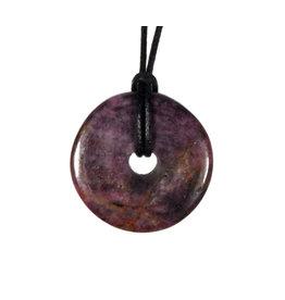 Robijn hanger donut 2,5 - 2,8 cm