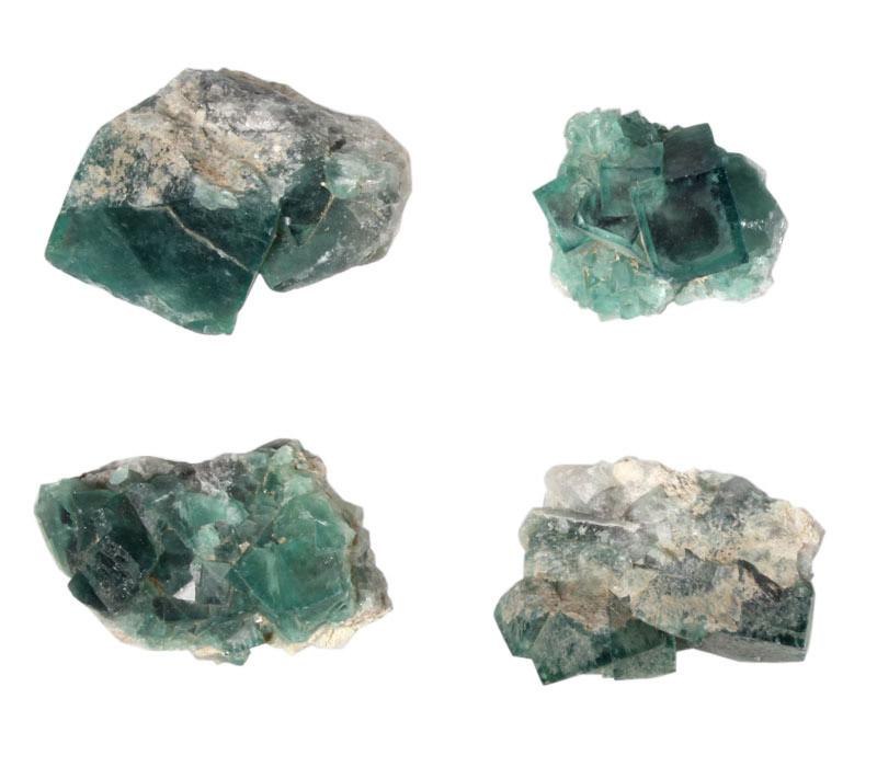 Fluoriet (groen) cluster 50 - 100 gram