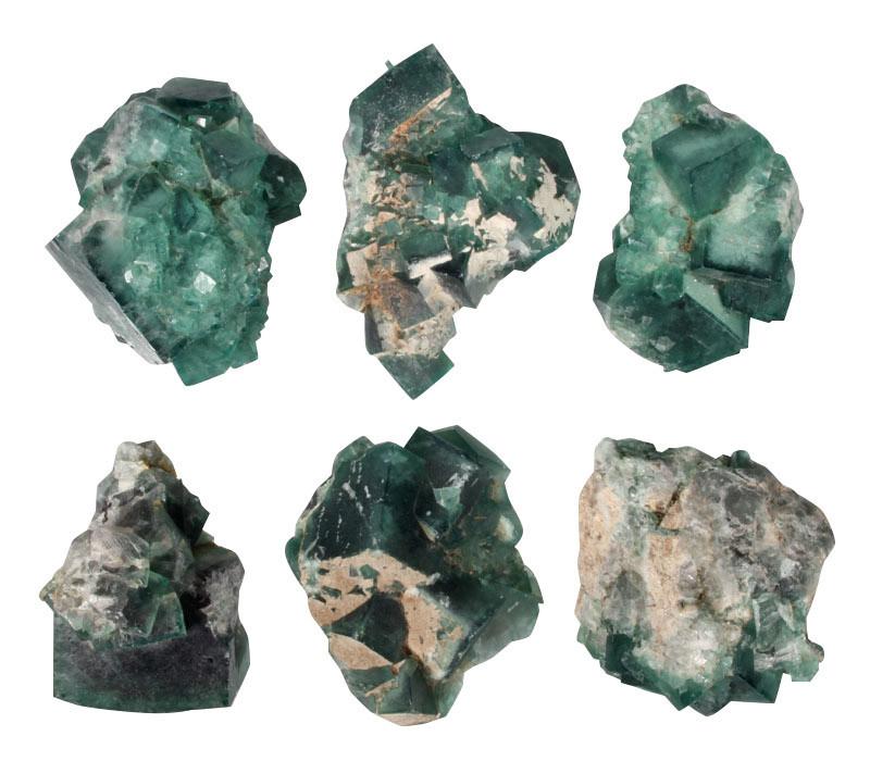 Fluoriet (groen) cluster 250 - 500 gram