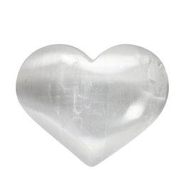 Seleniet edelsteen hart 7,5 cm