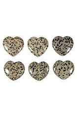 Jaspis (dalmatier) edelsteen hart 4 cm