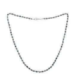 Apatiet - ioliet - rookkwarts ketting | rondelles facet kralen