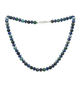 Chrysocolla - lapis lazuli ketting | 8 mm kralen