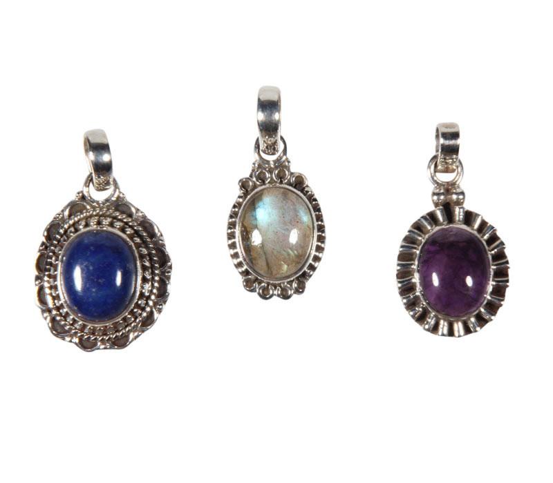 Set van 3 zilveren hangers - (138975)