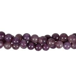 Lepidoliet (paars) kralen rond 8 mm (streng van 40 cm)
