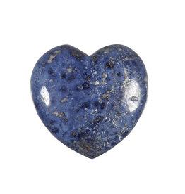 Dumortieriet edelsteen hart 4 cm