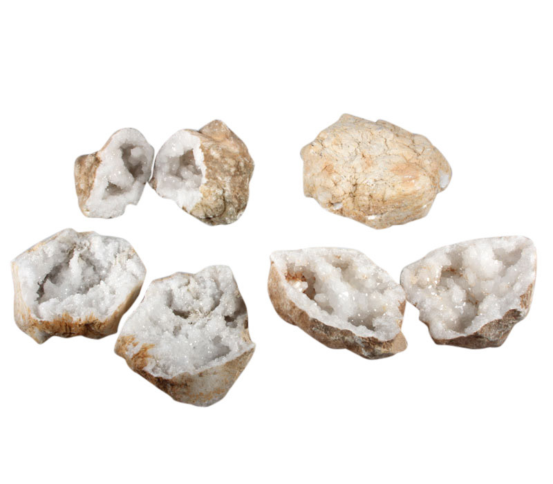 Bergkristal geode paar L