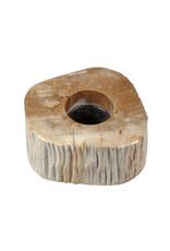 Versteend hout theelichthouder