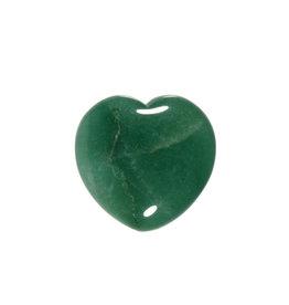 Aventurijn (groen) edelsteen hart 3 cm
