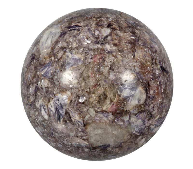 Lepidoliet met roze toermalijn in kwarts edelsteen bol 105 mm | 1206 gram