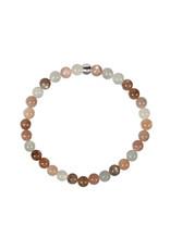Maansteen (multicolour) armband 18 cm | 6 mm kralen