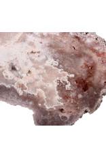 Amethist (roze) schijf 14 x 13,3 x 1,3 cm | 314 gram