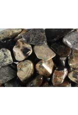 Jaspis (zilverblad) steen getrommeld 5 - 10 gram