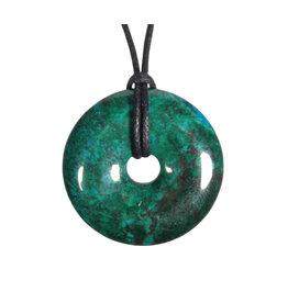 Chrysocolla hanger donut 3 cm