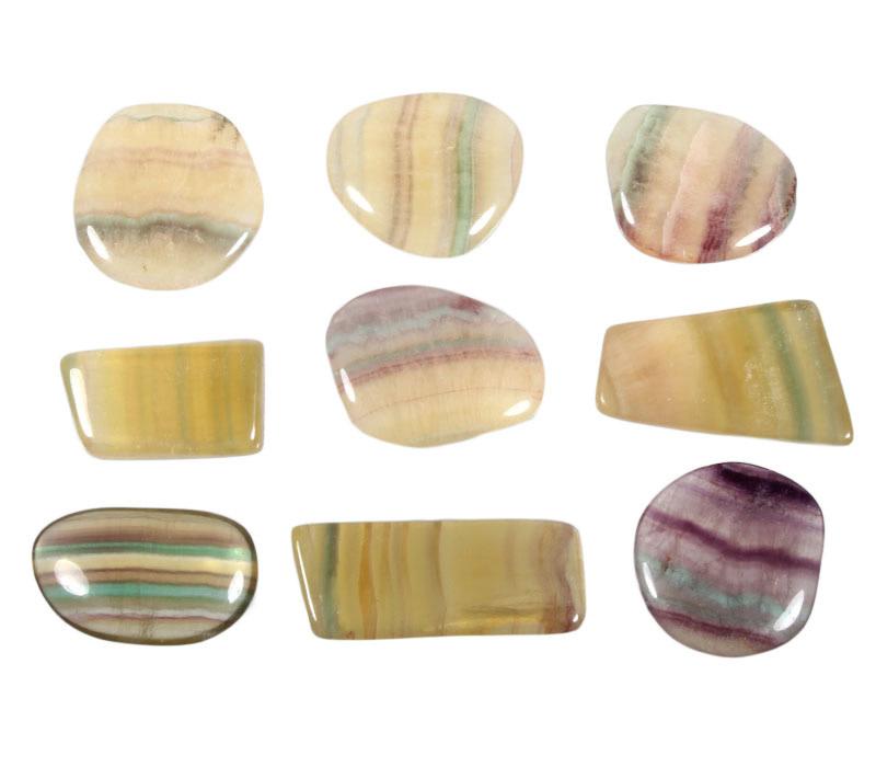 Fluoriet (regenboog) steen getrommeld 10 - 15 gram