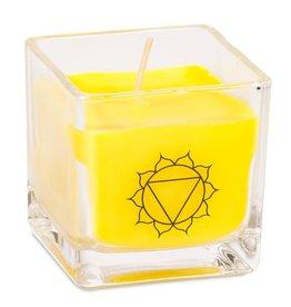 Geurkaars koolzaadwas zonnevlecht chakra (geel)