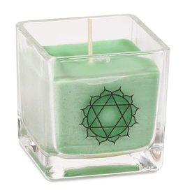 Geurkaars koolzaadwas hart chakra (groen)