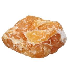 Calciet (oranje) ruw 15 x 13 x 9,5 cm | 2938 gram