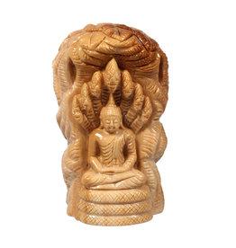Versteend hout boeddha 5,8 x 3,9 x 10 cm | 270 gram
