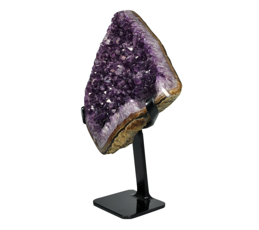Amethist cluster 19 x 16 x 5,5 cm / 1352 gram | met standaard