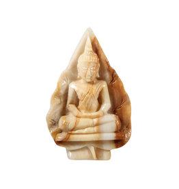 Versteend hout boeddha 6 x 2,5 x 9 cm | 100 gram