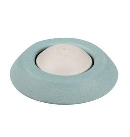 Aromasteentje met onderzetter (lichtblauw)