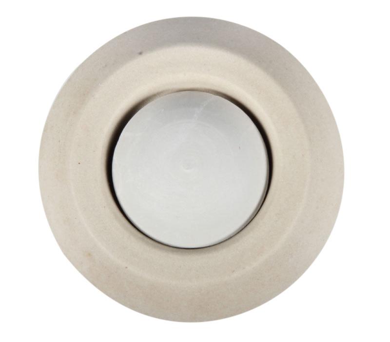Aromasteentje met onderzetter (beige)
