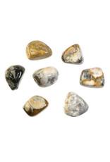Merliniet (goud/groen) steen getrommeld 10 - 20 gram
