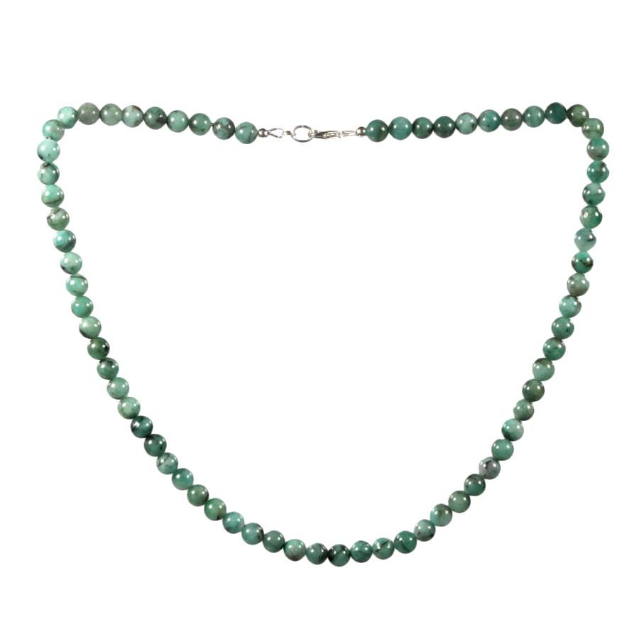 Smaragd ketting 6 mm kralen